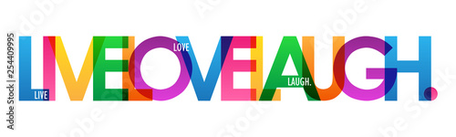 LIVE LOVE LAUGH. colorful typography banner Canvas Print