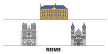 France, Reims Flat Landmarks V...
