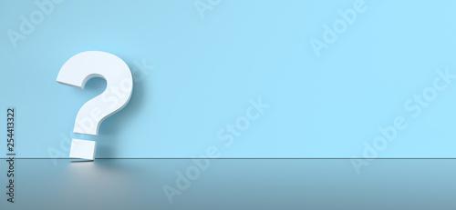 Stickers pour porte Pierre, Sable colored question mark background concept. 3D Rendering.
