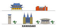 Japan, Kawasaki Flat Landmarks...