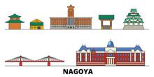 Japan, Nagoya Flat Landmarks V...