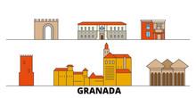 Spain, Granada Flat Landmarks ...