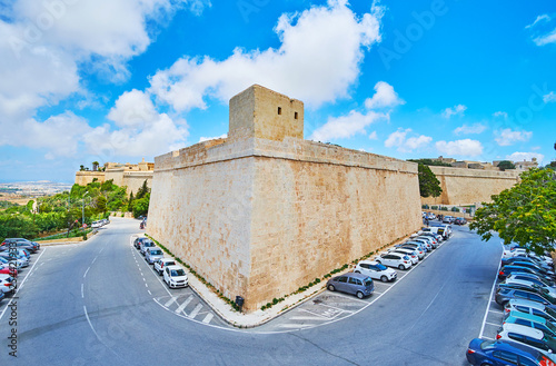 The tower of St Pater Bastion, Mdina, Malta Fototapete