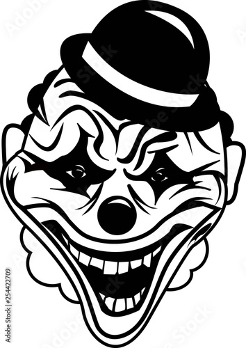 scary Halloween mask, clown mask vector image - Buy this