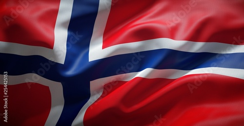 Photo Norwegian flag. Norway.