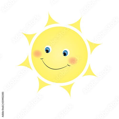 cute sun Canvas Print