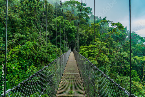 Costa Rica arenal hanging bridge Canvas Print