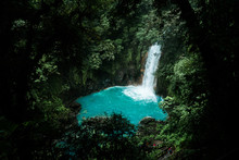 Costa Rica Rio Celeste Vulcano Tenorio National Park Waterfall