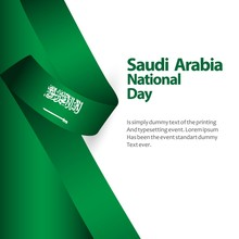 Saudi Arabia National Day Flag...