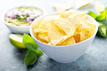 Corn Chips In A Big Bowl With ...