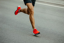 Legs Man Runner In Bright Red ...