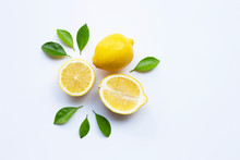 Lemon And Slices With Leaves I...