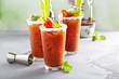 canvas print picture Bloody mary cocktails with garnishes for brunch