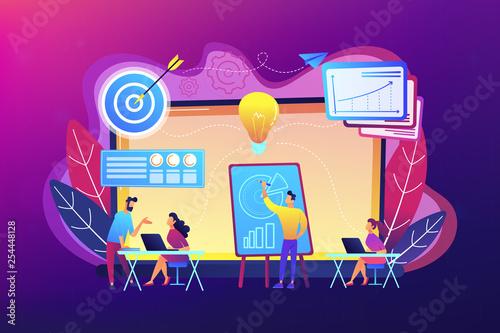 Business incubator concept vector illustration.