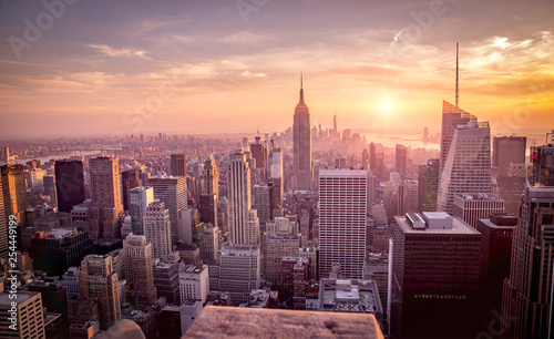Fototapety, obrazy: Top of the rock sunset