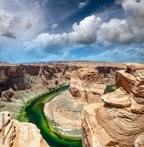 Fotografie, Obraz  Horseshoe Bend and Colorado River at sunset, Arizona, USA
