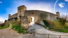 The Castle Of Monteriggioni In...