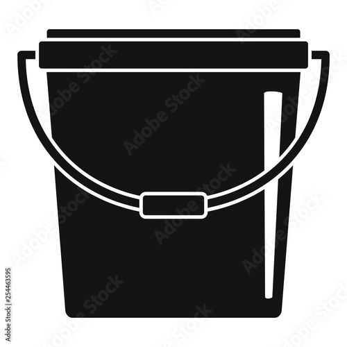 Plastic bucket icon. Simple illustration of plastic bucket vector icon for web design isolated on white background Wall mural