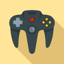Video Game Joystick Icon. Flat...