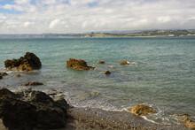 Polkerris Beach, Near Fowey, Cornwall, UK