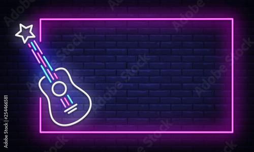 Rock Music neon sign vector Canvas-taulu