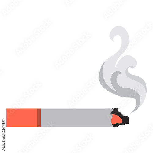 Fotografiet  Burning smoke cigarette icon