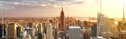 Deurstickers New York New York City skyline