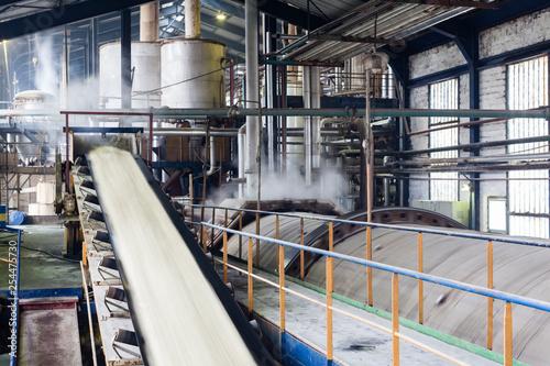 Fotografie, Obraz  Transport of sugar on the production line