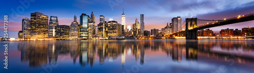 Foto auf AluDibond New York New York City lights