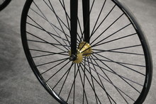 Wheel. Wheel With Spokes From Historic Vehicle.
