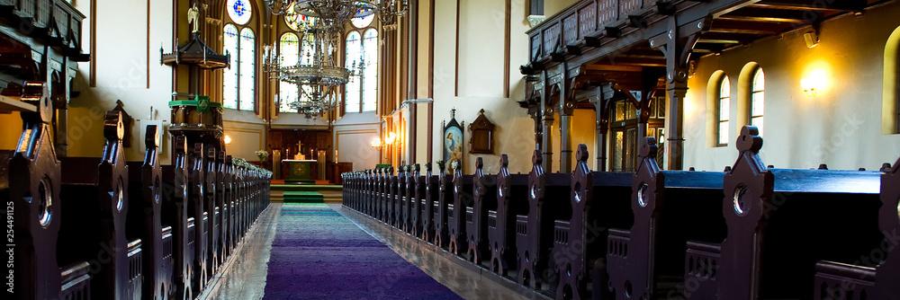Fototapety, obrazy: Interior of catholic church