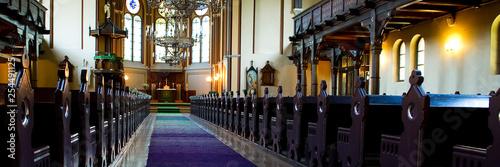 Foto Interior of catholic church