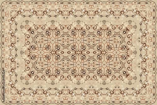 Fotografie, Obraz  Vintage Arabic pattern