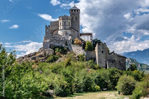 Foto  Svizzera, panorama dal Castello di Sion