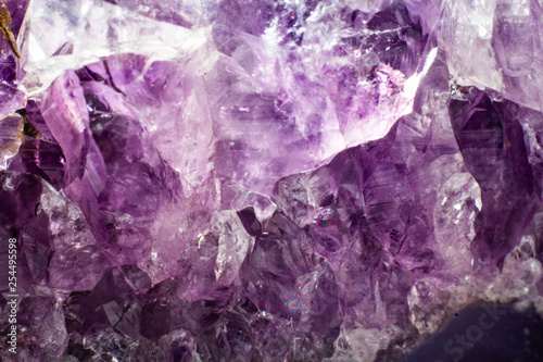 Abstract background texture of natural crystal amethyst Canvas Print