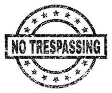 NO TRESPASSING Stamp Seal Wate...