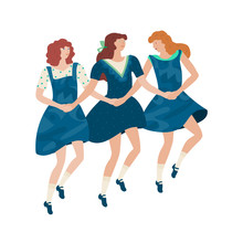 Irish Dancers. Girls Performin...