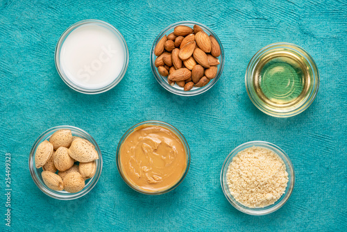 Foto  collection of almond super foods