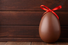 Chocolate Easter Egg Gift With Red Bow