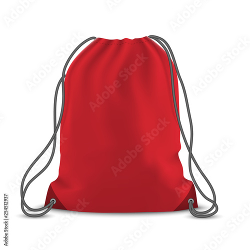 Backpack bag isolated Canvas Print