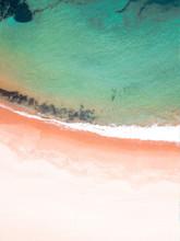 Aerial Photography Of Seawaves Crashing On Shore