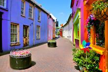 Quaint Street Lined With Vibra...