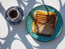 Sliced Toast Bread On Plate