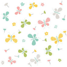 Spring Pattern. Vector Seamless Background.