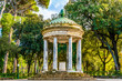 Leinwanddruck Bild - Temple of Diana on the grounds of the Villa Borghese park in Rome, Italy