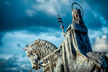 Equestrian Statue Of King Stephen I (Szent Istvan Kiraly) At Fischer Bastion. Budapest, Hungary