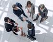 top view. handshake business people