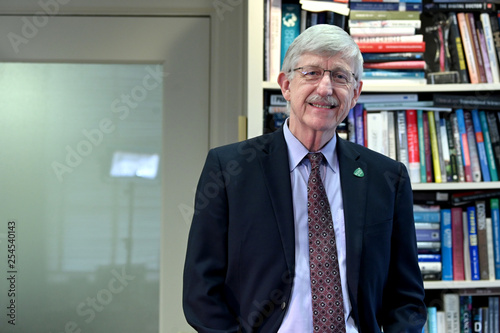 NIH Director Collins poses for a portrait - Buy this stock