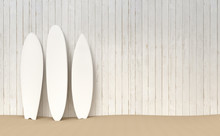Surfboards Mockup Beach Illustration