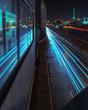 Berlin Stadtansicht bei Nacht mit Blick auf den Funkturm